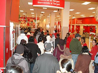 Black Friday (shopping) - Interior of a Target store on Black Friday