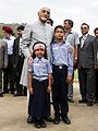 DR. HAMID ANSARI POSE FOR PHOTOGRAPH WITH TWO LIITLE CHILDRENS.jpg