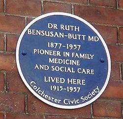 Photo of Ruth Bensusan-Butt blue plaque