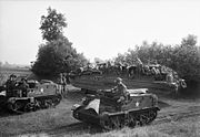 DUKW and Universal Carriers of 5th Duke of Cornwall's Light Infantry, 43rd Division, Holland, 18 September 1944. BU934
