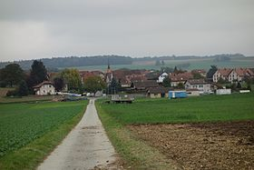 Panorama du village de Daillens.