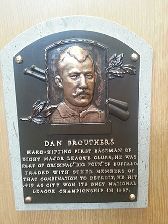 Dan Brouthers - Plaque of Dan Brouthers at the Baseball Hall of Fame