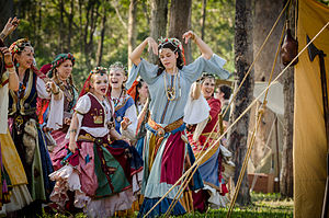 Itinerant groups in Europe - Romani artists in traditional outfits (ca. 2013)