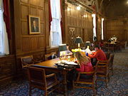 Students studying in Stell Hall