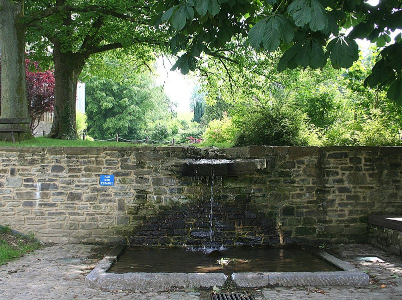 Daverdisse  (Belgium), the old public fountain.
