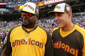 Anthony Rizzo - Rizzo (right) with David Ortiz during 2016 Home Run Derby