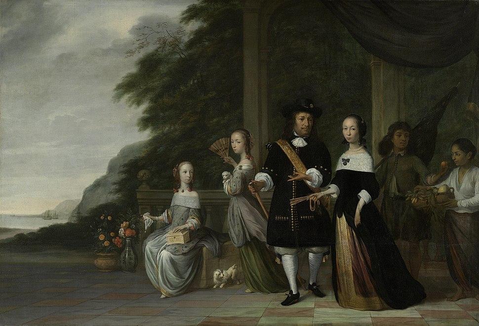 De Bataviase opperkoopman Pieter Cnoll en zijn gezin Rijksmuseum SK-A-4062.jpeg