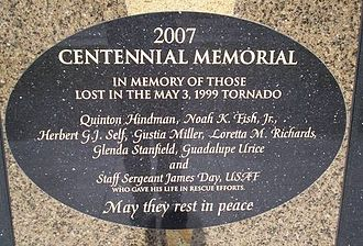 Del City, Oklahoma - Tornado victims' memorial