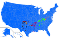 Democratic Party presidential primaries results by county, 2012.png