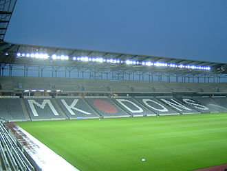 Milton Keynes Dons F.C. - Stadium mk's East Stand in 2007