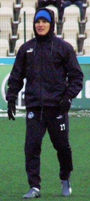 Igor Denisov - Igor Denisov warming up for Zenit.