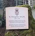 Description of St Peregrine Tile Mosaic at the Grotto in Portland Oregon.jpg