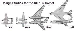 De Havilland Comet - Design studies for the DH 106 Comet 1944–1947 (artist's impression)