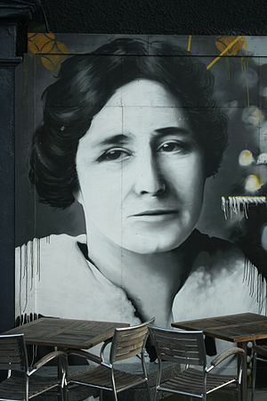Mary Barbour - Detail of Mary Barbour on the Clutha Bar mural