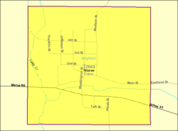 Detailed map of Marne, Iowa