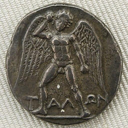 Talos, dracma cretese, III a.C., Cabinet des Médailles, Parigi. Foto di Jastrow, pubblico dominio via Wikimedia Commons