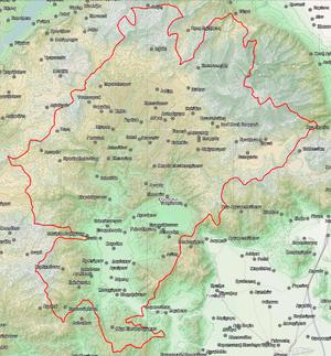 Domenikon massacre - Map of the Elassona province.