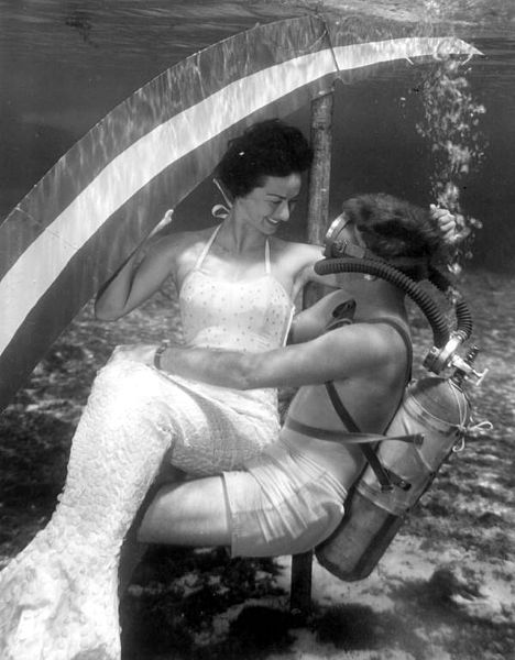 File:Diver holding a mermaid at Rainbow Springs Florida.jpg