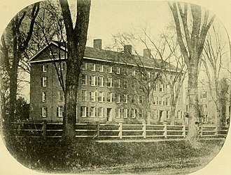 Yale Divinity School - The Divinity College dormitory on the Old Campus, completed in 1836