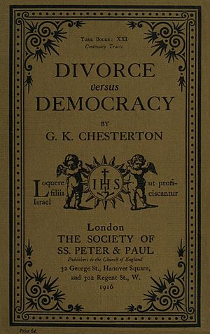 Divorce versus Democracy