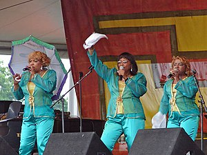 The Dixie Cups - The Dixie Cups at the New Orleans Jazz Fest in 2006. Left to right: Rosa Lee Hawkins, Athelgra Neville and Barbara Ann Hawkins.
