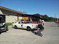 Dodge Monaco 1977 Roscoe P Coltrane Dodge Charger 1969 RT General Lee Dukes Bri Kupfer Shooting TBS 09Feb2014 (14399908257).jpg