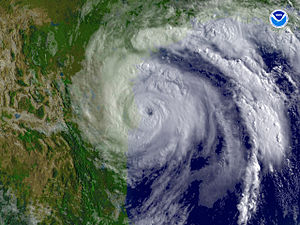Hurricane Dolly (2008) - Hurricane Dolly at peak intensity, just before landfall.