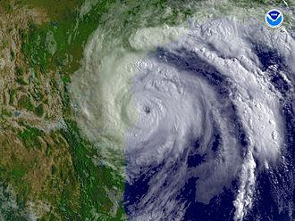 Hurricane Dolly (2008) - Hurricane Dolly at peak intensity, just before landfall.