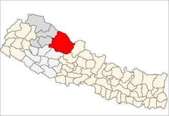 Dolpa District - Location of Dolpa