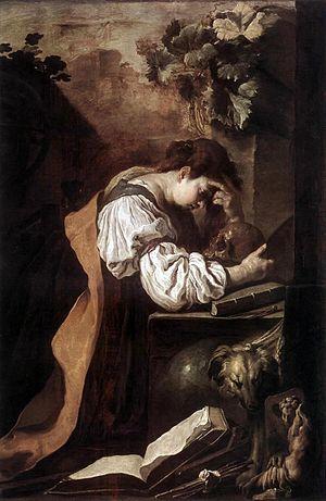 Mélancolie par Domenico Fetti (ca. 1622).
