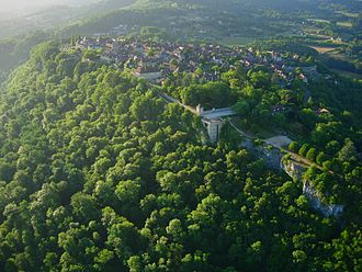Domme, Dordogne - Aerial view of Domme