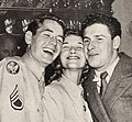 Don Taylor, Phyllis Avery, and Bob Beerman at Modern Screen's Poll Party, 1946.jpg