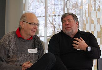 Donald Knuth, Steve Wozniak, CHM 2011.jpg