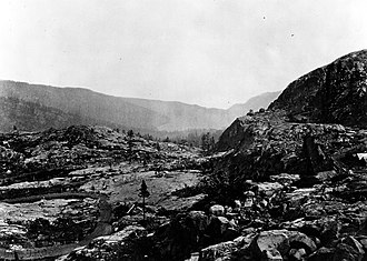 Donner Pass - Looking east from Donner Pass in the 1870s
