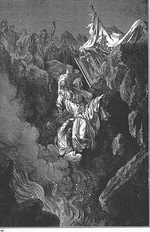 Dathan - The Death of Korah, Dathan and Abiram, by Gustave Doré, 1865.