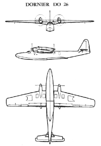 Dornier Do 26 - Image: Dornier Do 26 3view drawings