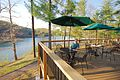Douthat Lakeview Restaurant-deck-customer-happy (17817670672).jpg