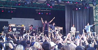 K-Days - Down with Webster performing on the Telus Stage in 2010.