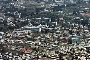 Section of downtown area of Kabul