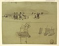 Drawing, Beach Scene with Women Carrying Baskets, Cullercoats, England, 1881–82 (CH 18175001).jpg