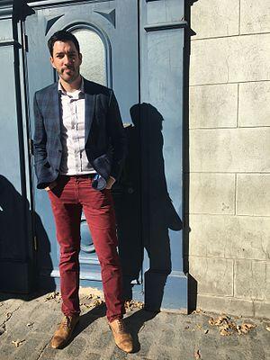 Drew Scott - Drew Scott filming in Quebec City, October 7, 2016.