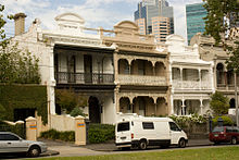Terraces In Carlton Victoria Featuring The Elaborate Ornamentation Which Exemplifies Boom Style Of Late Victorian Era