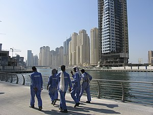 Human rights in Dubai - Dubai has approximately 250,000 laborers, mostly South Asian, working on real estate development projects such as the Dubai Marina.