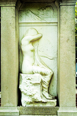 Albert Bartholomé - Relief on Dubufe tomb in Père-Lachaise