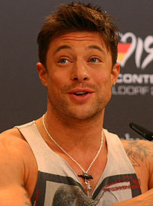 Duncan James saat press konferensi bersama Blue