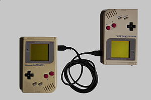 Game Link Cable - 2 Game Boy systems connected with a DMG-04