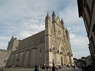 Orvieto - The monumental Cathedral of Orvieto.
