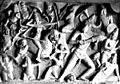 Durga Slaying Giants And Demons, from a sculpture at Mahabalipuram.jpg