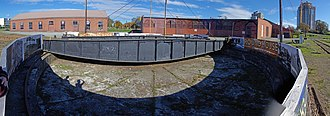 Esquimalt and Nanaimo Railway Roundhouse - Image: E&N Turntable and Roundhouse, Victoria BC (2013 Oct 27)