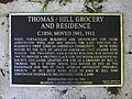 East Dayton Street Historic District - Historical Plaque at the Thomas-Hill Grocery and Residence.JPG